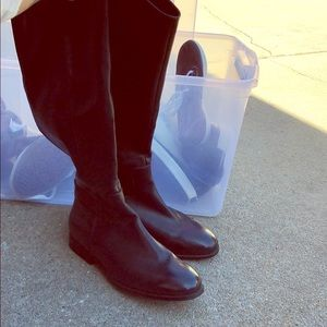 Target Vegan Leather Wide Calf Riding Boots